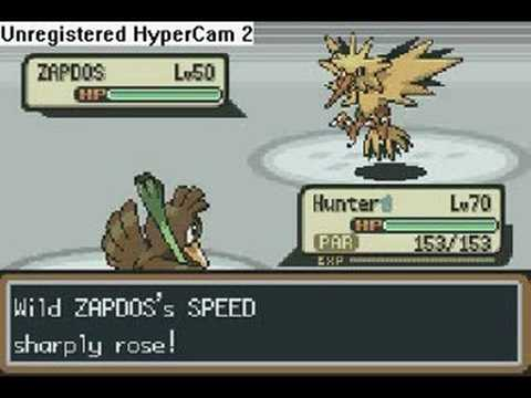 Pokémon Firered/ Leafgreen- Catching Zapdos In A Pokéball