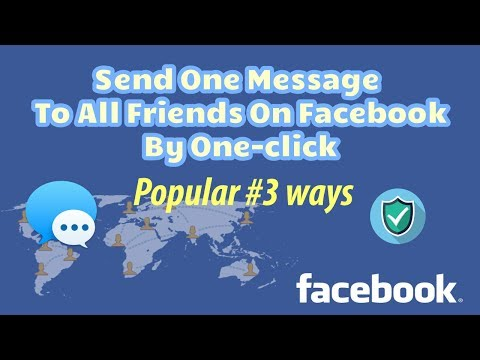How to send one message to all friends on facebook