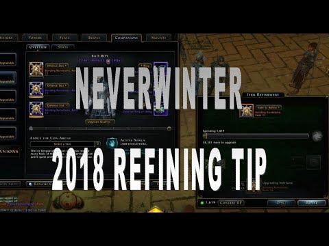 Neverwinter 2018 Mod Refining Tip