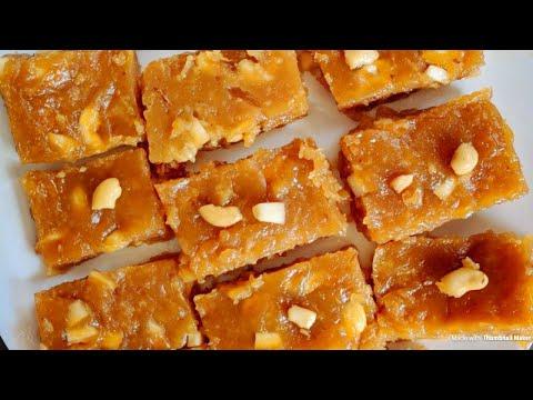 Arrowroot Halwa recipe in Malayalam | Koova Verakiyathu | Koova podi sweet | WITH ENGLISH SUBTITLES