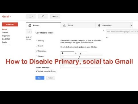 How to Disable Inbox Tabs (Primary, social) in Gmail
