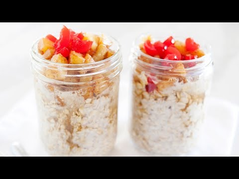 Pineapple Upside Down Cake Overnight Oats