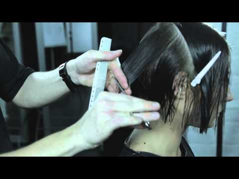 triangular graduation,bob haircut