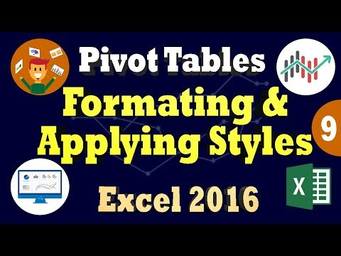 Create & Apply Styles To PivotTable In Ms Excel 2016 | Formatting Excel 2016 Pivot Table Layout