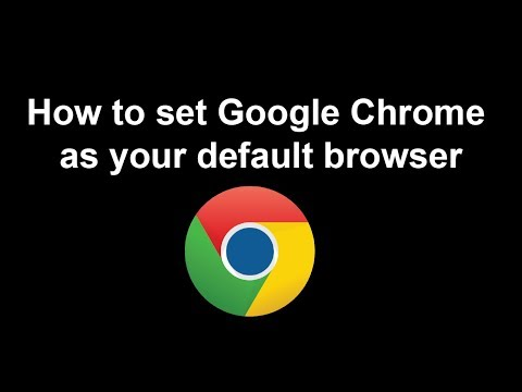 Video Tutorial : How to set google chrome as your default browser on Windows 7