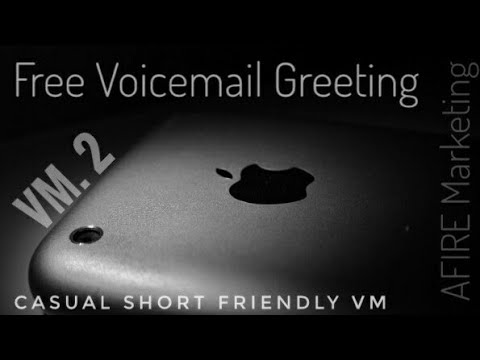 Free Use Voicemail Greeting 2:  Casual Short & Friendly