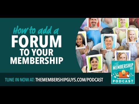 Adding an Online Forum to your Membership Site
