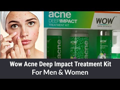 WOW ACNE DEEP IMPACT TREATMENT KIT - THE BEST ACNE TREATMENT KIT FOR MEN & WOMEN