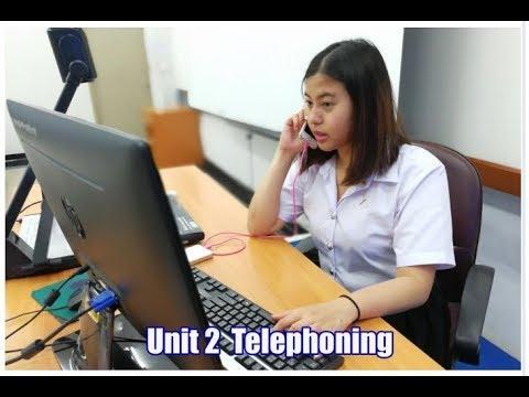 Telephoning การใช้โทรศัพท์ภาษาอังกฤษ 1