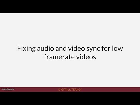 Shiplake News (2018): Fixing Audio/Video sync issues in MoviePlus for low frame rate videos