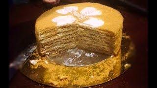 HONEY CAKE BAKERY STYLE |RUSSIAN MEDOVIK CAKE