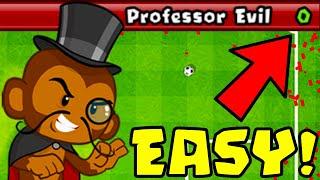 How to Beat The NEW Professor Evil Challenge in BTD Battles   Week 55 part 2