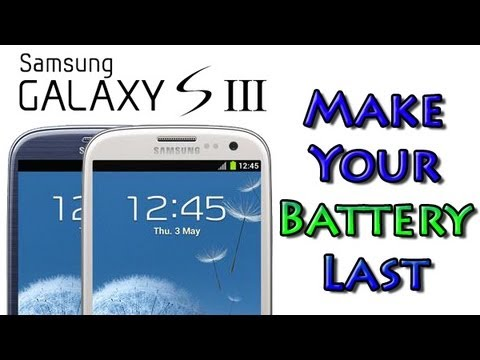 Galaxy S3 - How to Make Your Battery Last (Conserve Your Battery)​​​ | H2TechVideos​​​