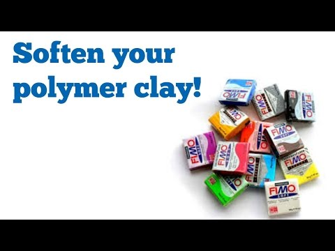 How to soften your polymer clay! No softener needed!! :D