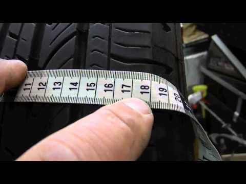 How To Measure A Tire