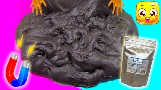 How To Make Magnetic Fluffy Slime Without Iron Filings And Borax Gian