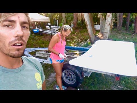 DIY Hard Bimini for Catamaran