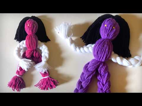 Make a doll / How to make doll from woolen /  Happy New Year