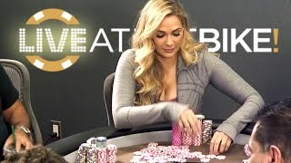 Courtney AKA Liberalchick Wins Over $10,000 In High Stakes Poker Game!!! ♠ Live at the Bike!
