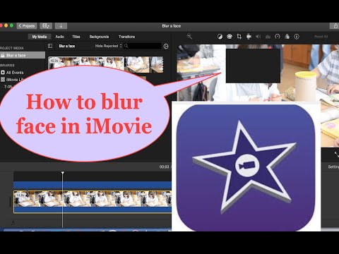 How to  cover face in  iMovie 2016