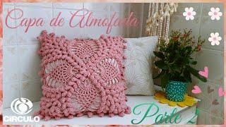 🌹 Capa de Almofada em Crochê. 2/2 .  Por Vanessa Marcondes