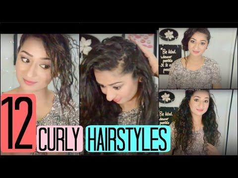 12 Hairstyles for Curly Hair by an Indian Beauty Guru