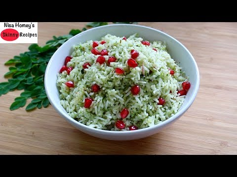 Moringa Pulao Recipe - How To Make Moringa/Drumstic Leaves Pulao - Pulav/Pilaf - Skinny Recipes