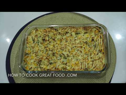 Vegan Shepherd Pie Recipe with Sweetcorn Mash