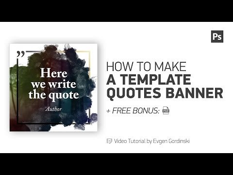 Template Quotes Banner + FREE Psd - Photoshop Tutorial