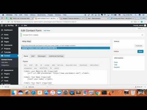 WordPress Setup Contact form 7