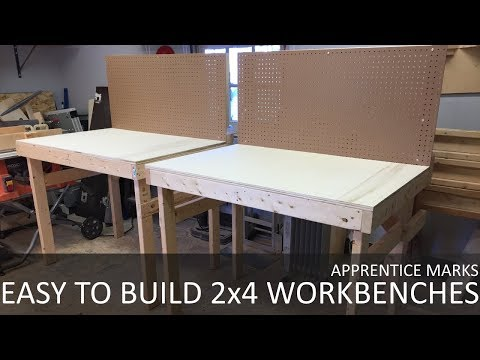 Easy to Build Collapsible Work Benches