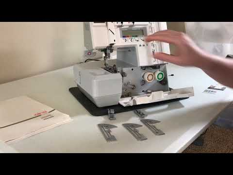 Threading the Elna Lock Pro 5 DC - Part 1 - Needle Plates, Presser Feet and More