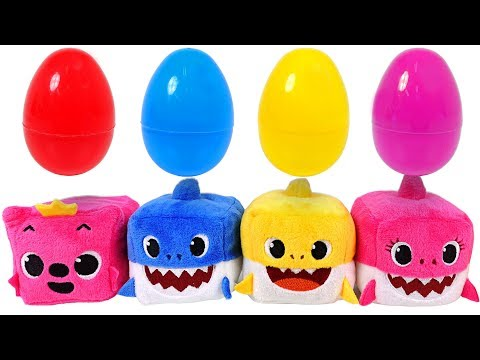 Sing along with Shark family~! Pinkfong Cube Shark family music dolls - PinkyPopTOY
