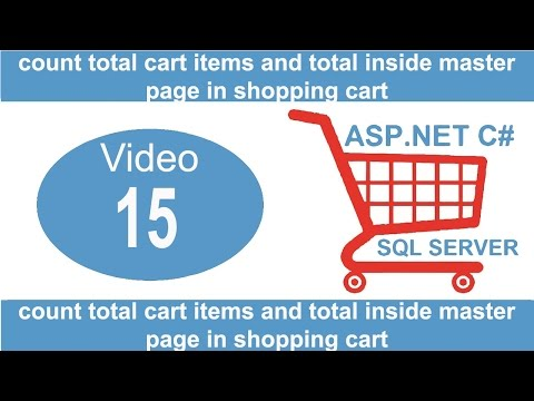 count total cart items and total inside master page in shopping cart