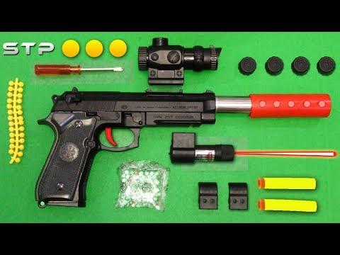 Realistic Beretta Toy Gun Airsoft Gel Ball Bullet Gun Toy Shooting - BB Gun with Soft Rubber & Darts