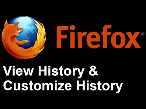 Firefox - View History and Customize History Settings in Mozilla Firefox