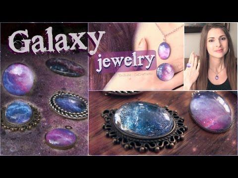DIY Galaxy Necklace & Ring Pendants | SoCraftastic
