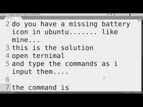 missing battery icon Indicator  in ubuntu