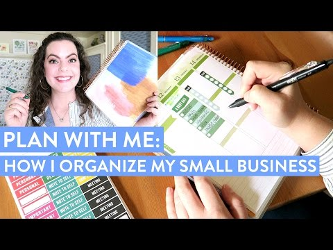 PLAN WITH ME: How I Keep my Etsy Shop & Business Organized