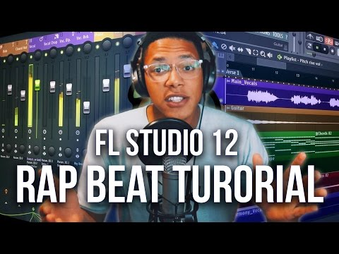 FL STUDIO 12 BEGINNER HIP HOP BEAT TUTORIAL 2017 | Old School Rap Beat (PART 2)