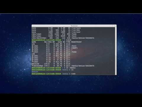 Check disk partitions space mount unmount disk in Linux terminal