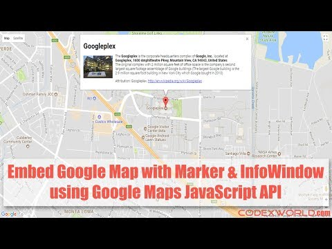 Google Map with Marker and Info Window using JavaScript