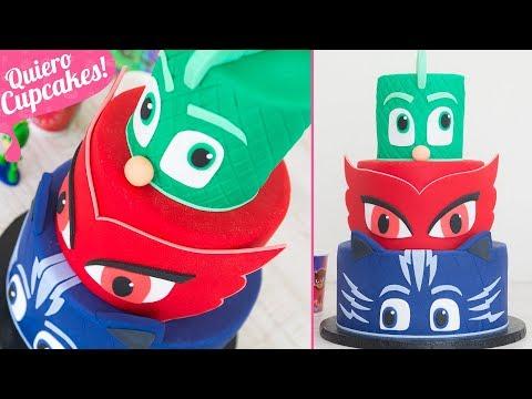 PASTEL PJ MASKS de FONDANT | Quiero Cupcakes!