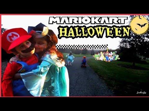 IRL Mario & Princess Rosalina!🎃Mariokart HALLOWEEN! Sweet Family Life #LehighValley