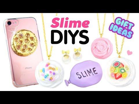 EASY 5-MINUTE DIYS Inspired by Viral Slimes!! DIY Slime Phone Case, Squishies & Xmas Gift Ideas!