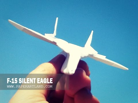 BEST PAPER JET FIGHTER - How to make a paper airplane that Flies FAR | F-15 Silent Eagle
