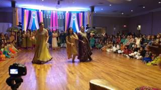 Sara & Atif Mehndi Dance 2016 (girls side)