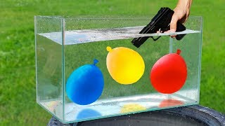 Experiment: Gun and Balloons Under Water
