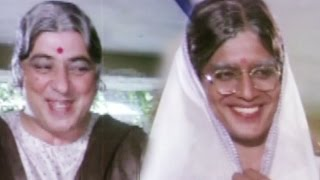 Mithun Chakraborty & Amjad Khan disguise as a lady - Hum Se Hai Zamana, Comedy Scene 6