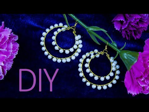 DIY pearl earrings in 5 Minute | pearl bridal jewelry | Beads art